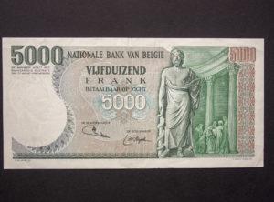 Billet 5000 Francs Belgique
