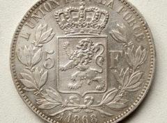 5 Francs – Léopold II 1868