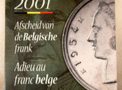 Set de Belgique – 2001 Adieu au Franc Belge