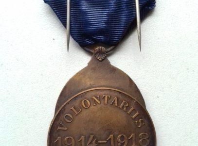 La Médaille du Volontaire Combattant 1914-1918