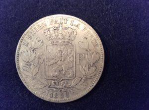 5 Francs Léopold I 1850