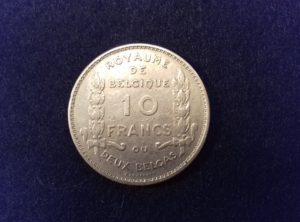10 Francs – 2 Belgas – 1930