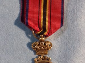 Médaille attribuée des Sauveteurs belges en argent (Léopold II)