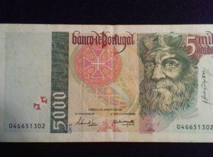 5000 Escudos – 05-01-1995