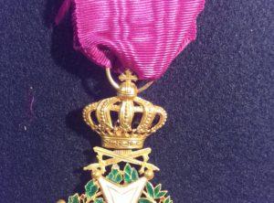 Officier de l'Ordre de Léopold I – Militaire – OR