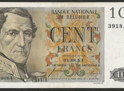 100 Francs - Type centenaire - 01.08.53 - FDC