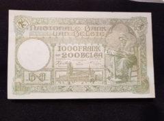 1000 Francs / 200 Belgas 17.03.43 SUP