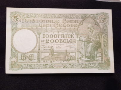 1000 Francs / 200 Belgas - 17.03.43 - Belgique