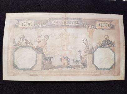 Banque de France - 1000 Francs 26.01.1939