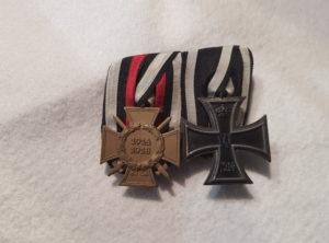 Croix d'Hindenburg combattant + Croix de Fer Allemagne