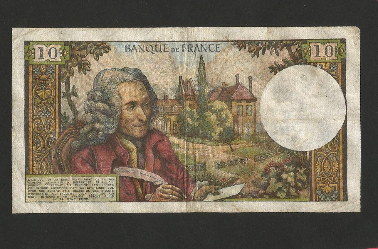 billet de banque voltaire