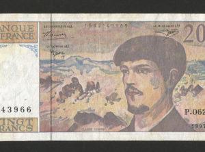 20 Francs – 1997 – Debussy