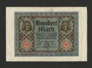 100 Mark – ReichsBanknote – 1 November 1920