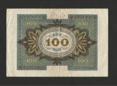 100 Mark – ReichsBanknote – 1 November 1920