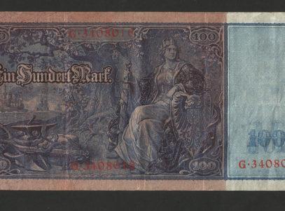 100 Mark - ReichsBanknote - 21 April 1910 - Germany - Allemagne