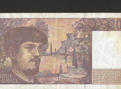 Billet - 20 Francs - France - Debussy - 1997