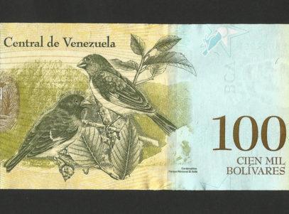 100 Bolivares - Republica Bolivariana de Venezuela