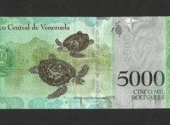 5000 Bolivares – République du Vénézuela FDC/NEUF