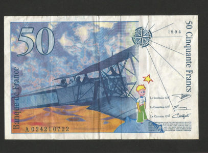 Billet - 50 Francs - France - Antoine Saint Exupéry - 1994