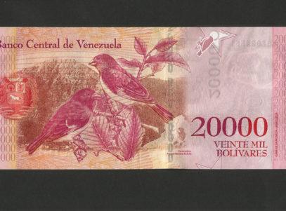 20000 Bolivares - Republica Bolivariana de Venezuela