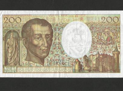 200 Francs - France - 1992