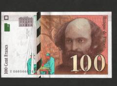 100 Francs – Paul Cézanne – 1998 – SUP