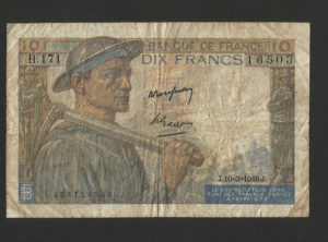 10 Francs – Mineur – 10.03.1949