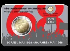 2€ Belgique – 50 ans – Mai 1968