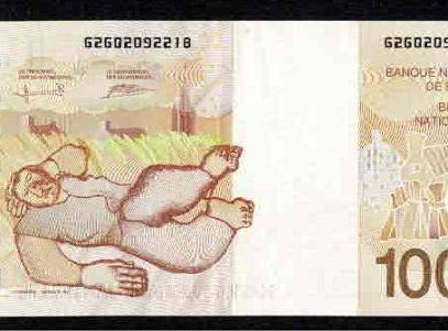 1000 Francs - Belgique - Permeke - Billet