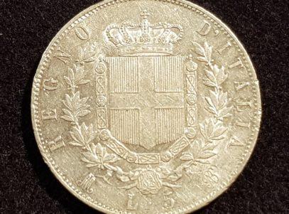 5 Lire - 1871 - M - Vittorio Emanuel II - Italia