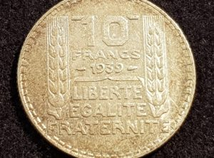 10 Francs – Turin – 1939 – Qualité + Patine