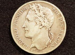 5 Francs – Léopold I – 1833