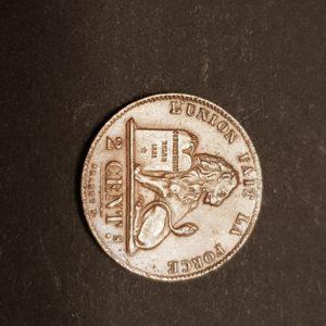 Belgique - 2 Cent - Léopold Premier - 1863