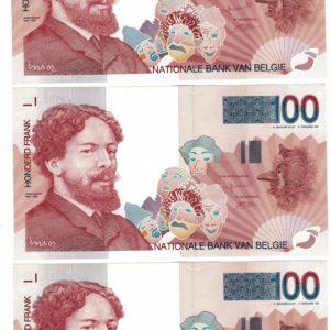 Billet - Belgique - 100 Francs type Ensor