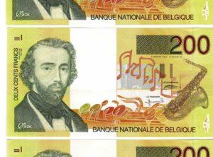 Billet - Belgique - 200 Francs type Adolphe Sax