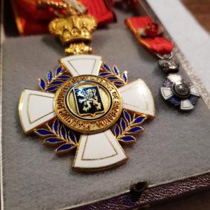 Commandeur + Miniature Officier - Brabant - Belgique - Décoration avec son écrin d'origine- Praemium Datum Cui Bene Meritus de Brabantia