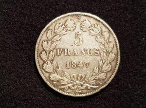 France - 5 Francs - Louis-Philippe I - 1847 A