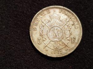 France - 5 Francs - Napoléon III - 1867 A