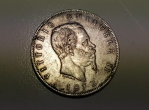 20190107_15 Lire - Italie - 1872 - Milan - Vittorio Em II