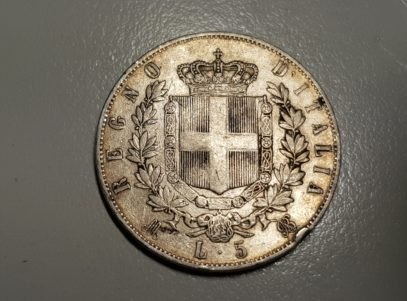 5 Lire - Italie - 1869 - Milan - Vittorio Em II