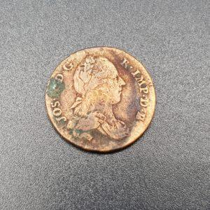 Pièce - Monnaie - 2 liards - 1789 - Frappe Bruxelles - Joseph II