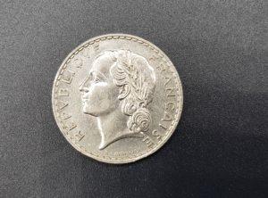 Pièce - Monnaie - France - 5 Francs - 1933 - Nickel - Lavrillier