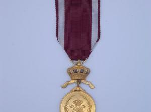 Décoration Belgique - Ordre de la Couronne - Médaille - Or - unilingue
