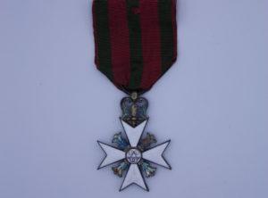 Décoration Belgique - Croix Commémorative du 25ème anniversaire de l'Inauguration du règne de Léopold Premier