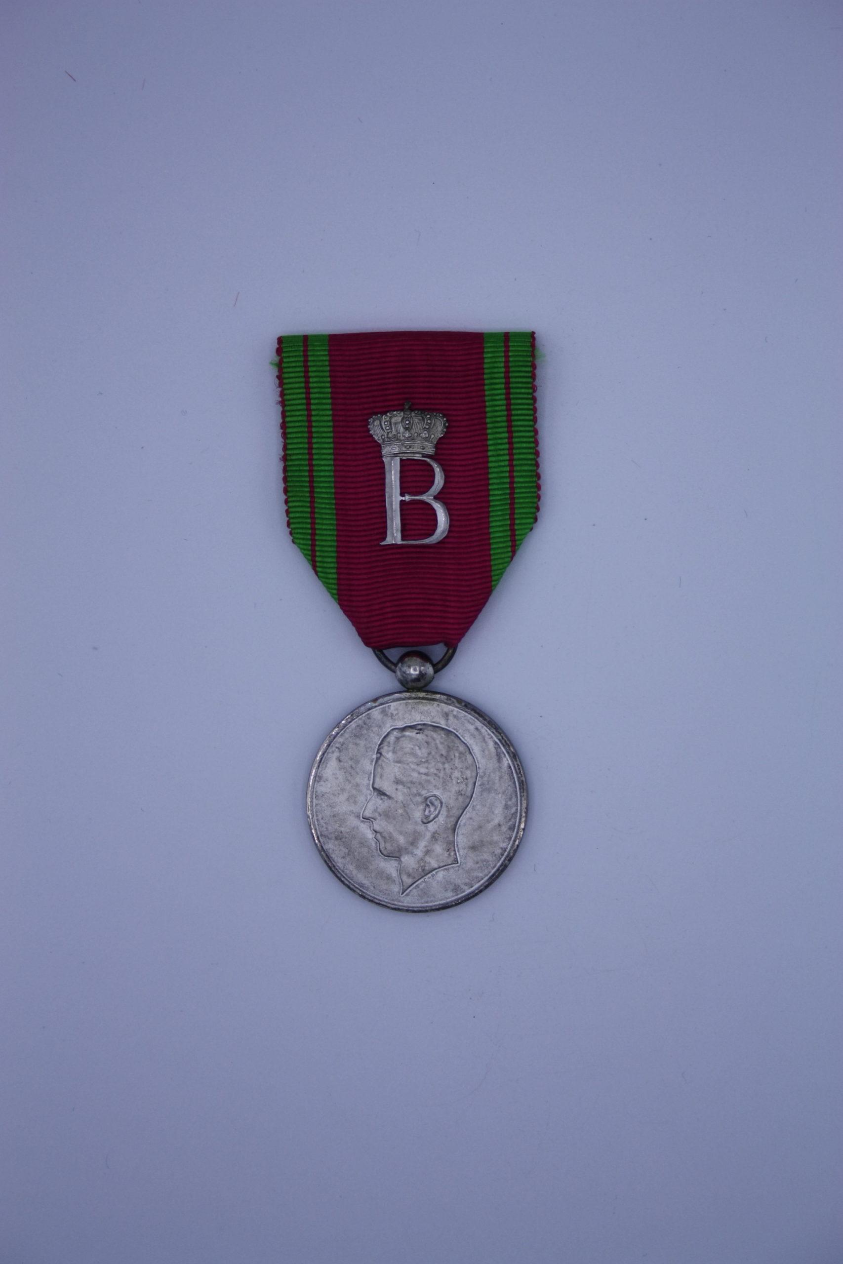 Décoration Belgique - Médaille de la maison Royale Baudouin - Argent