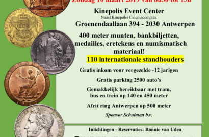 35ème Foire Internationale d'Anvers - 2019 - Antwerpen Beurse Numismtatique