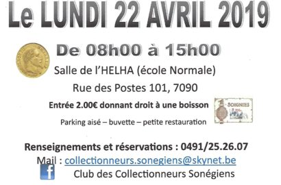 Bourse Multi-Collection - Numismatique - Braine-le-Compte 2019