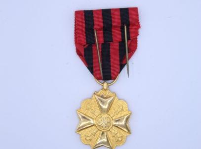 Décoration Belgique - Médaille Ancienneté après 1918 - OR