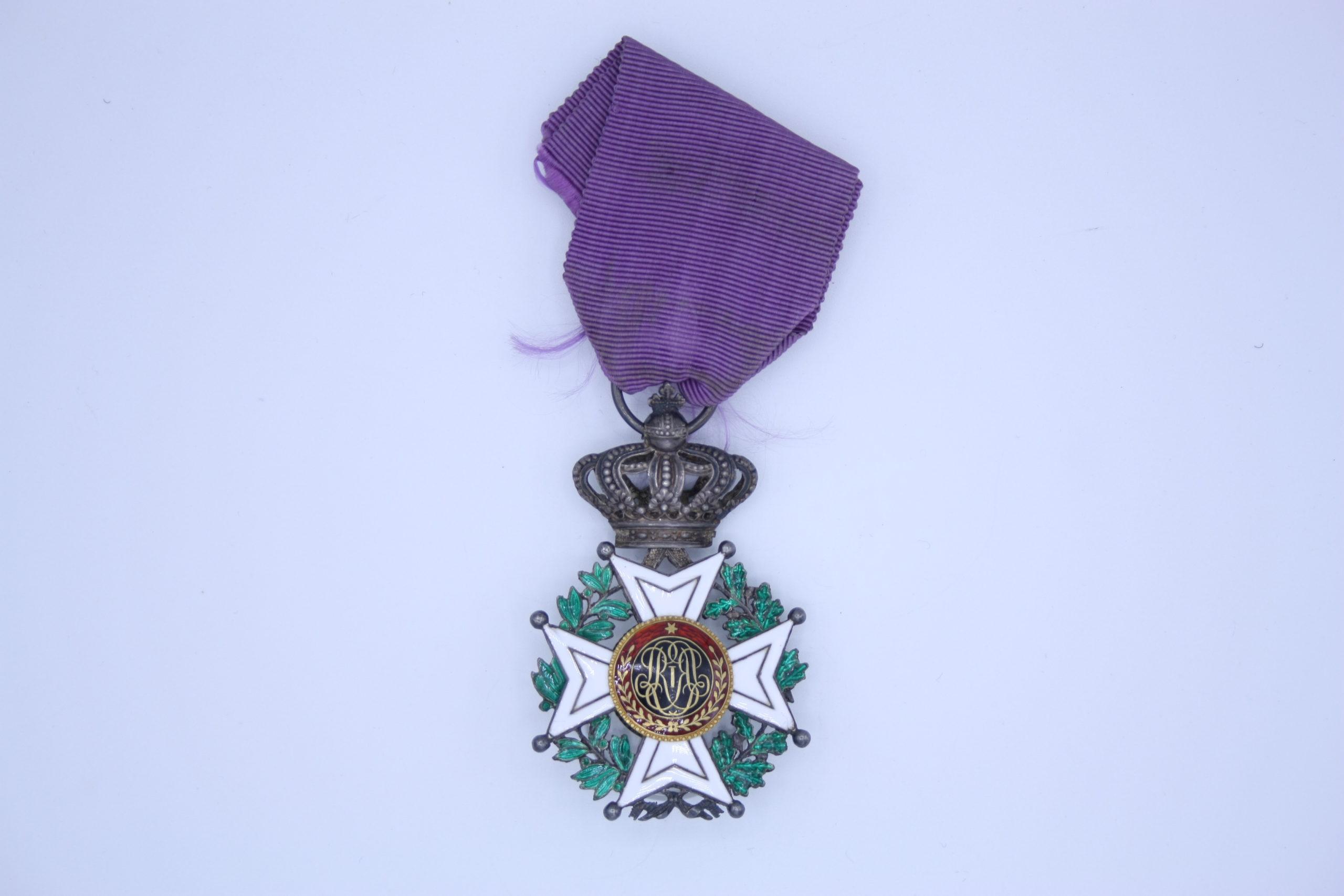 Décoration Belgique - Chevalier Ordre de Léopold Premier - Civil - Unilingue