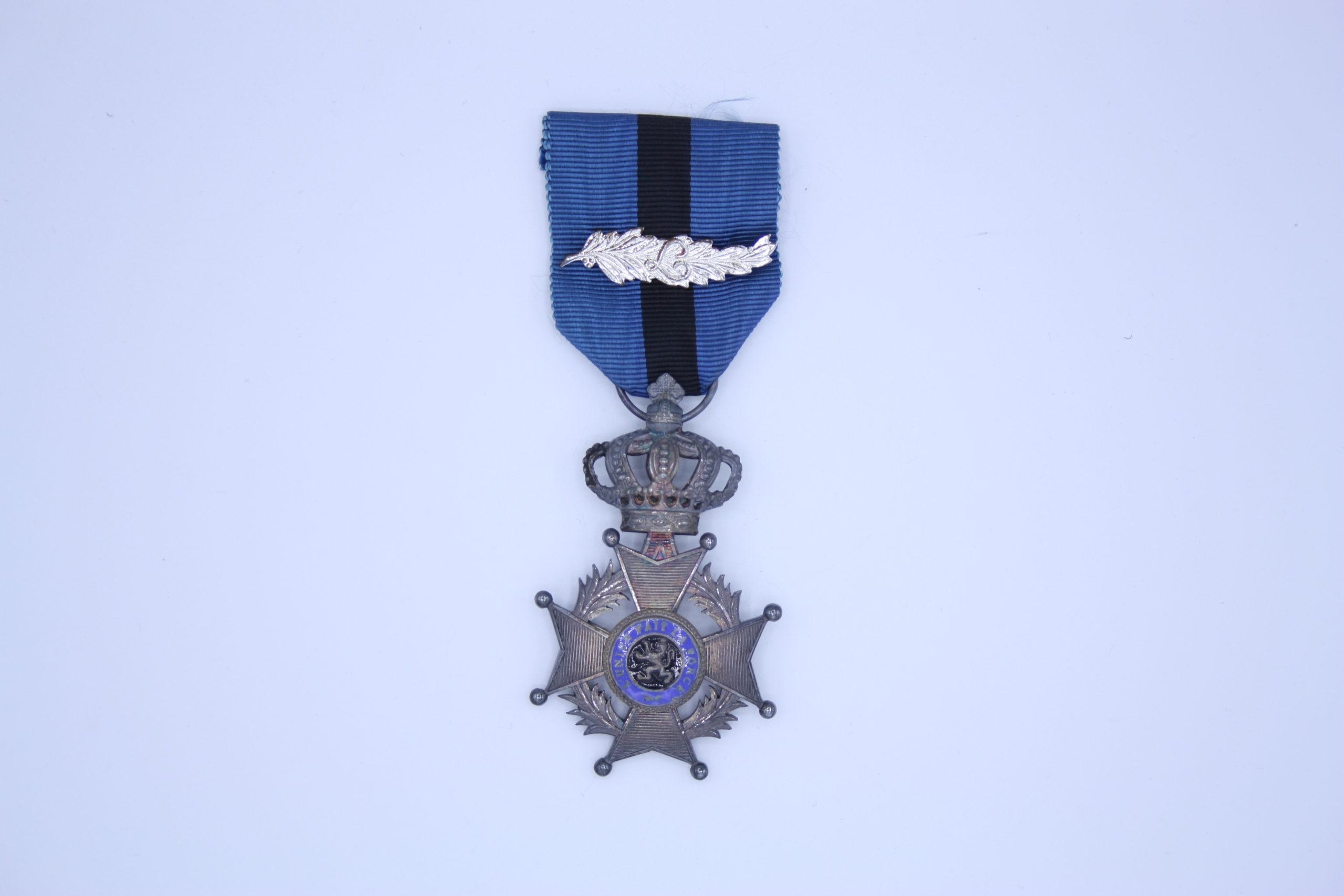Décoration Belgique - Chevalier Ordre de Léopold II - Unilingue - Palme
